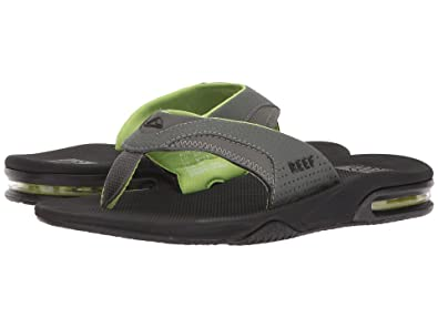 meet free shipping most reliable Reef Men's Fanning Sandal (7 D(M) US, Black/Green)