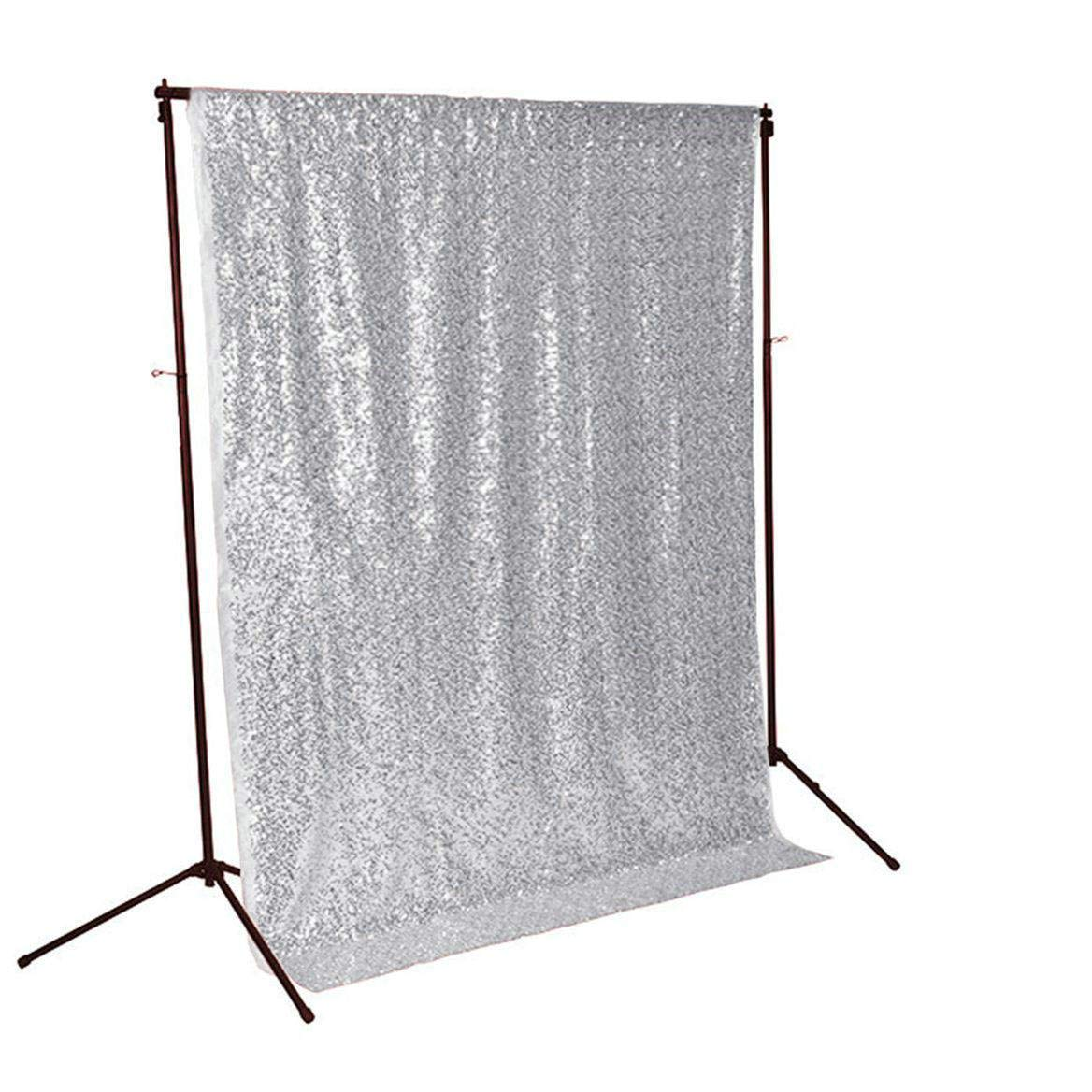 Sequin BACKDROP-CURTAIN-8FTx8FT Silver Sequin Photo Backdrop,Photo Booth Background,Sequence Christmas Backdrop Curtain