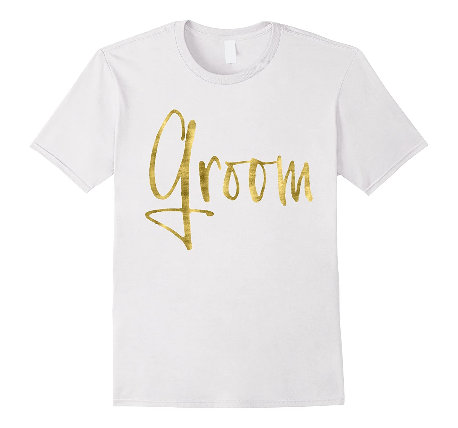 Mens Bachelor Party Shirt With Golden Effect Groom-TH