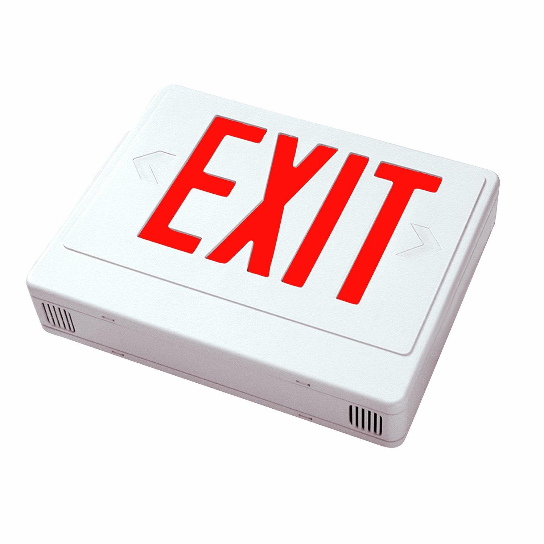 Sunlite 04311-SU EXIT/SU/1-2F/R/W/ES Exit Light