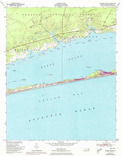 Salter Path Nc >> Amazon Com Yellowmaps Salter Path Nc Topo Map 1 24000