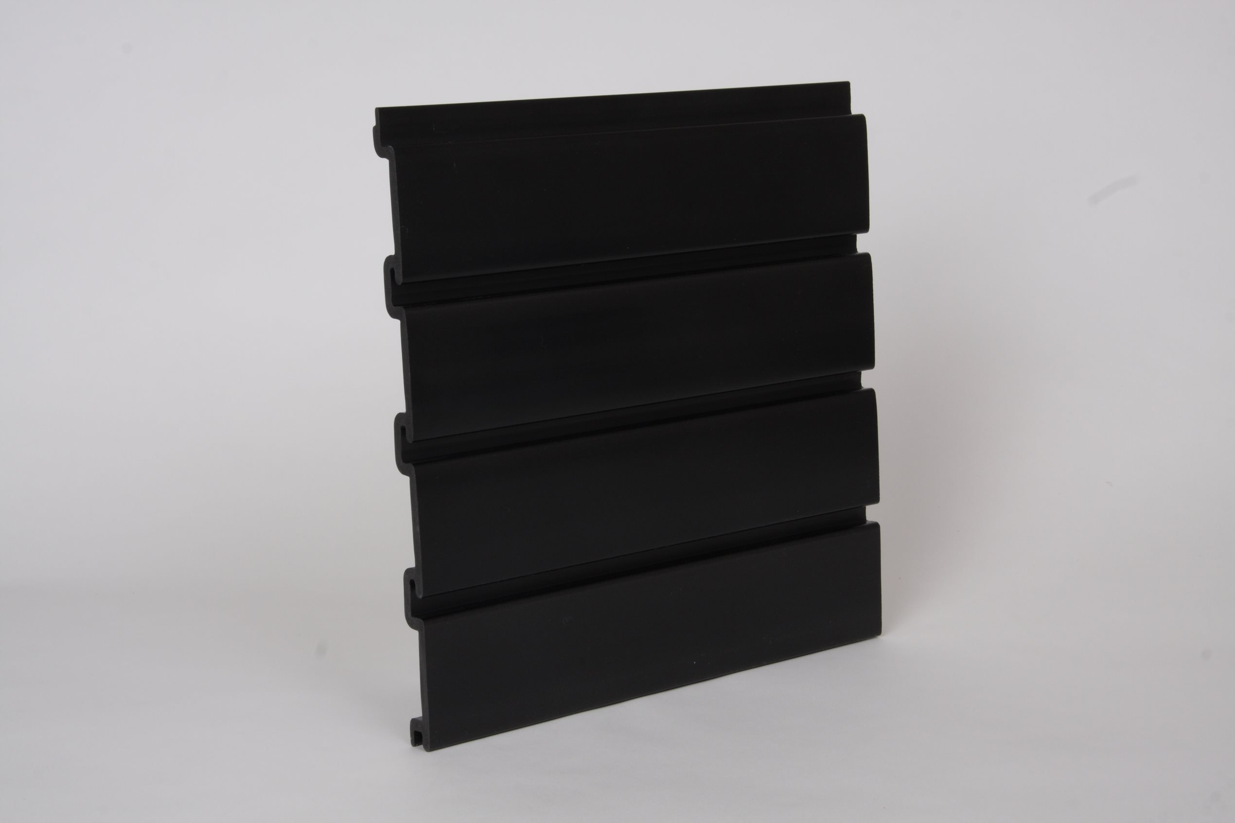 8 Pack Black Handiwall 12 Inch x 4 Ft Slatwall Panels for Garage and Retail Storage