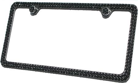 Blingo Black Crystal License Plate Frame