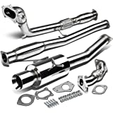 "Subaru WRX GD/GG Stainless Steel 4"" Rolled Muffler Tip Catback/Turbo Back+Downpipe+Up Pipe Exhaust System"