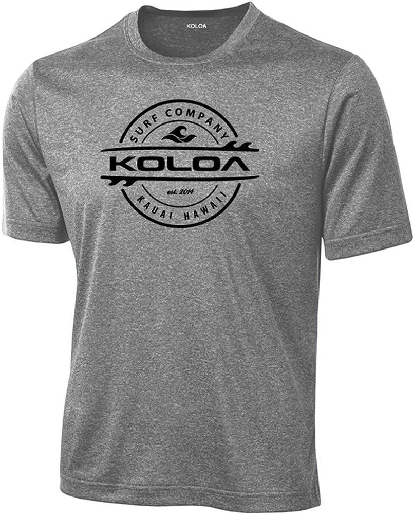 Koloa Surf Thruster Logo Moisture Wicking Athletic Shirts in Regular Big /& Tall