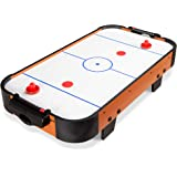 Best Choice Products 40in Portable Tabletop Air Hockey Arcade Table for Game Room, Living Room w/ 100V Motor, Powerful Electr