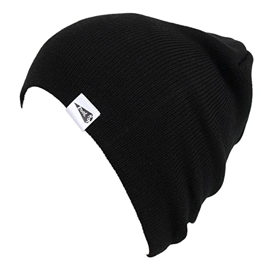 ef3f972a62d KooL Hop Kids Boys Girls Baby 100% Pure Cotton Knit Basic Beanie Hat Cap  Black