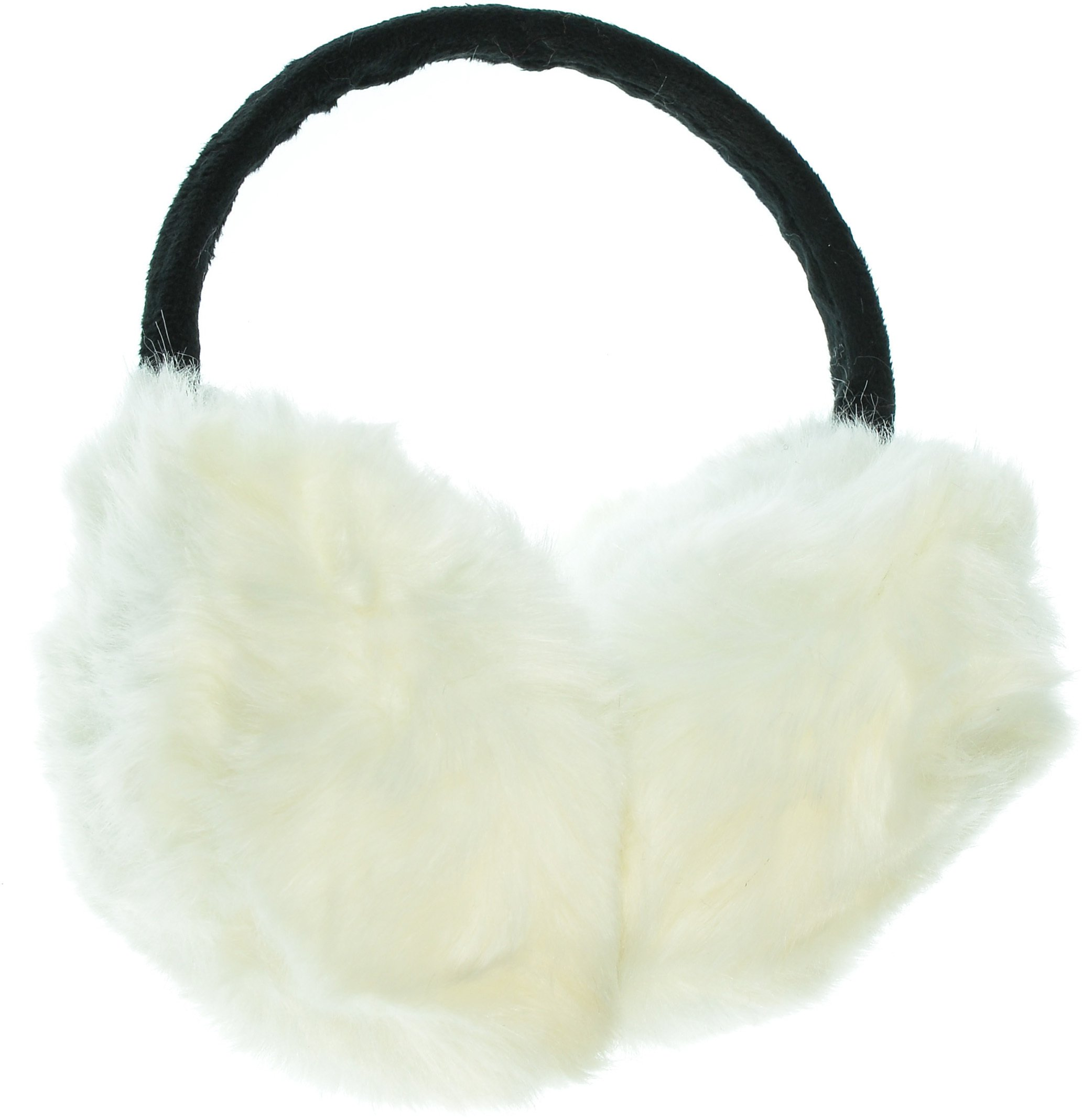 Hand By Hand Aprileo Unisex Earmuff Ear Warmer Fuzzy Faux Fur Warmth Run Bigger [White.](One Size)