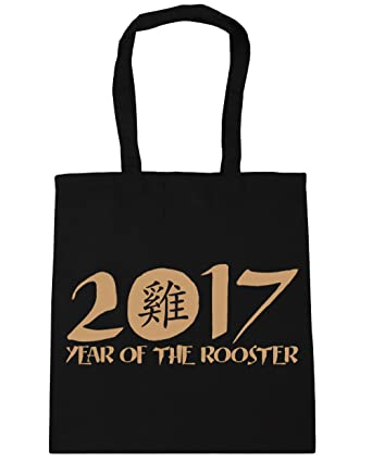 Hippowarehouse 2017 Year Of The Rooster Chinese Symbol Tote Shopping