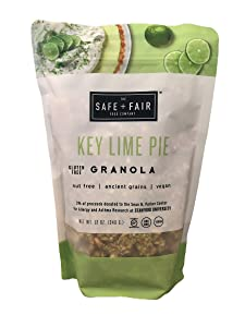 The Safe + Fair Food Company, Key Lime Pie Granola, 12 Ounce Pouch