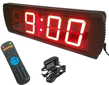 0c7bfb35f ganxin multifuncional 10,2 cm alta 4 dígitos LED reloj de pared, con cuenta