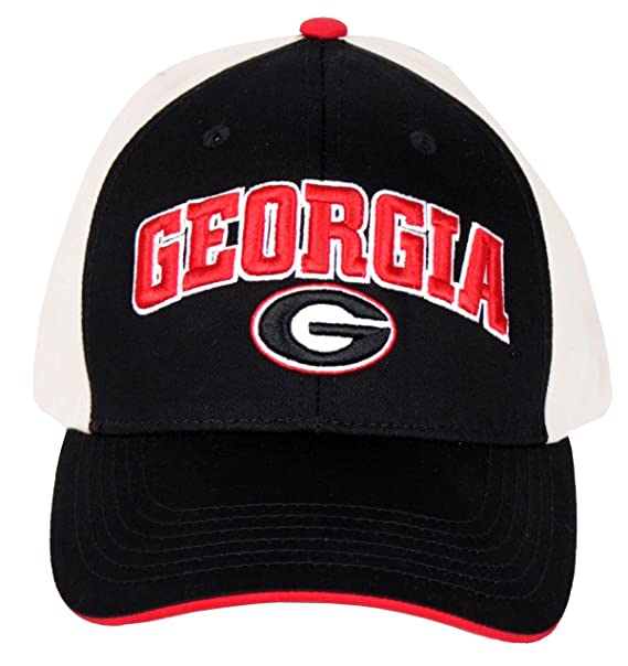 6e50a38a25964b Image Unavailable. Image not available for. Color: NCAA Georgia Bulldogs  Structured Adult Black and Khaki Logo Cap