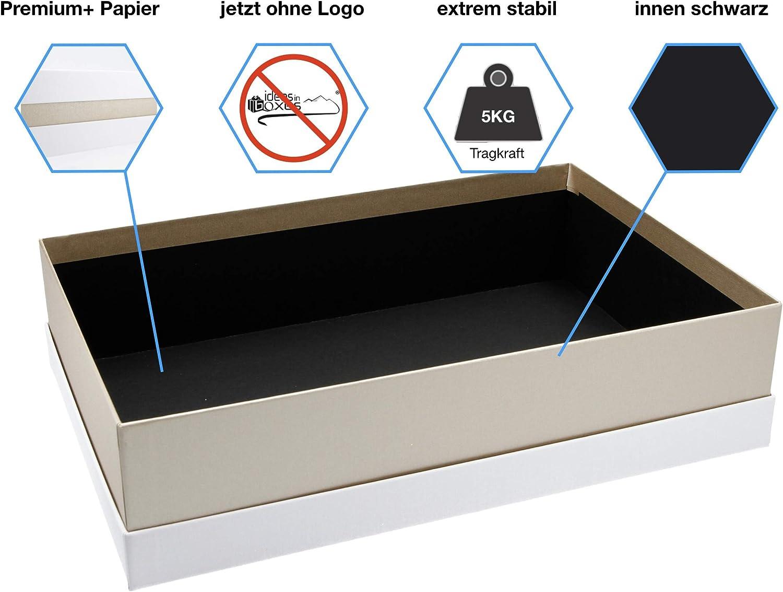 21x21x6 cm Geschenkverpackung Made in Germany Premium+ Geschenkbox Wei/ß, Rot, Wei/ß