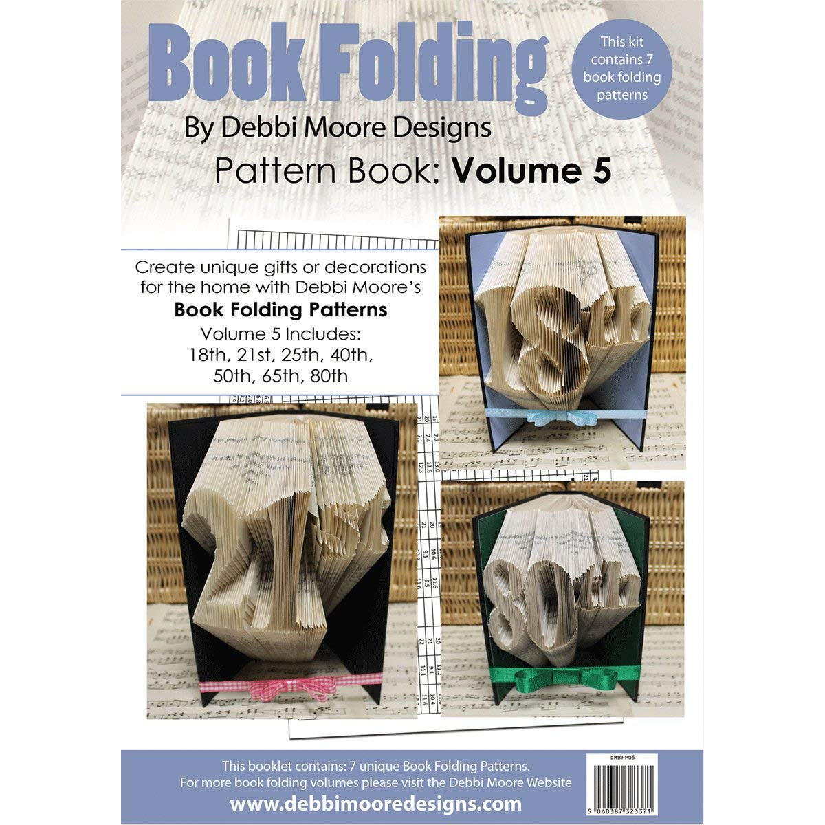 Debbi Moore Book Folding Pattern Book-Volume 5, 7 Designs Debbi Moore Designs 380945