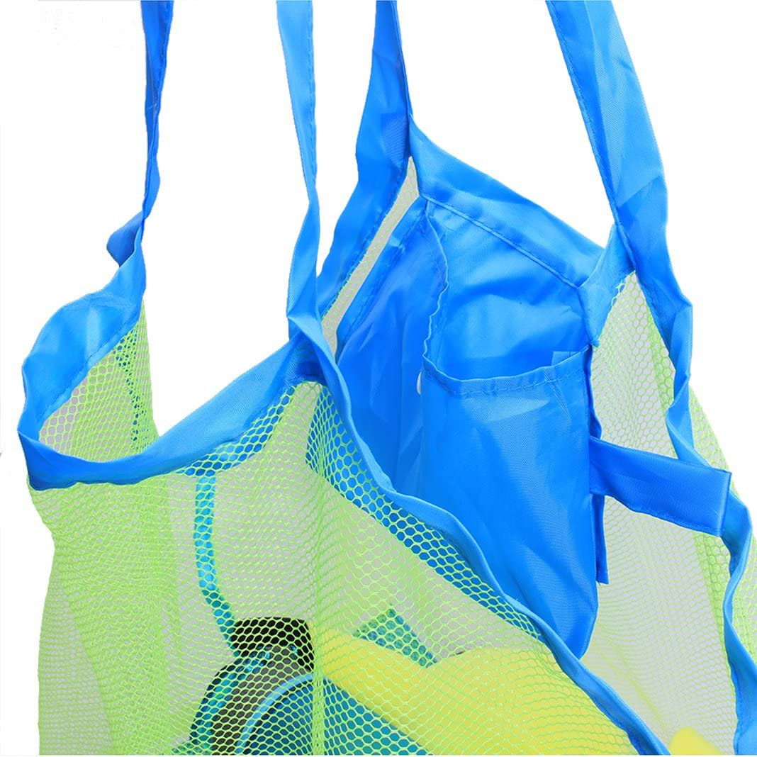Extra Large Beach Bag Beach Tote Bag Mesh Bag Portable Mesh Beach Bag Heavy Duty Lightweight /& Foldable Summer Travel Swimming Mesh Shoulder Tote with Handle