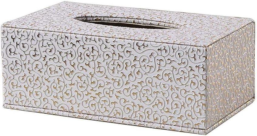 Omenluck - Caja de piel para papel de seda facial, duradera, para decoración de coche, coche, color dorado: Amazon.es: Hogar