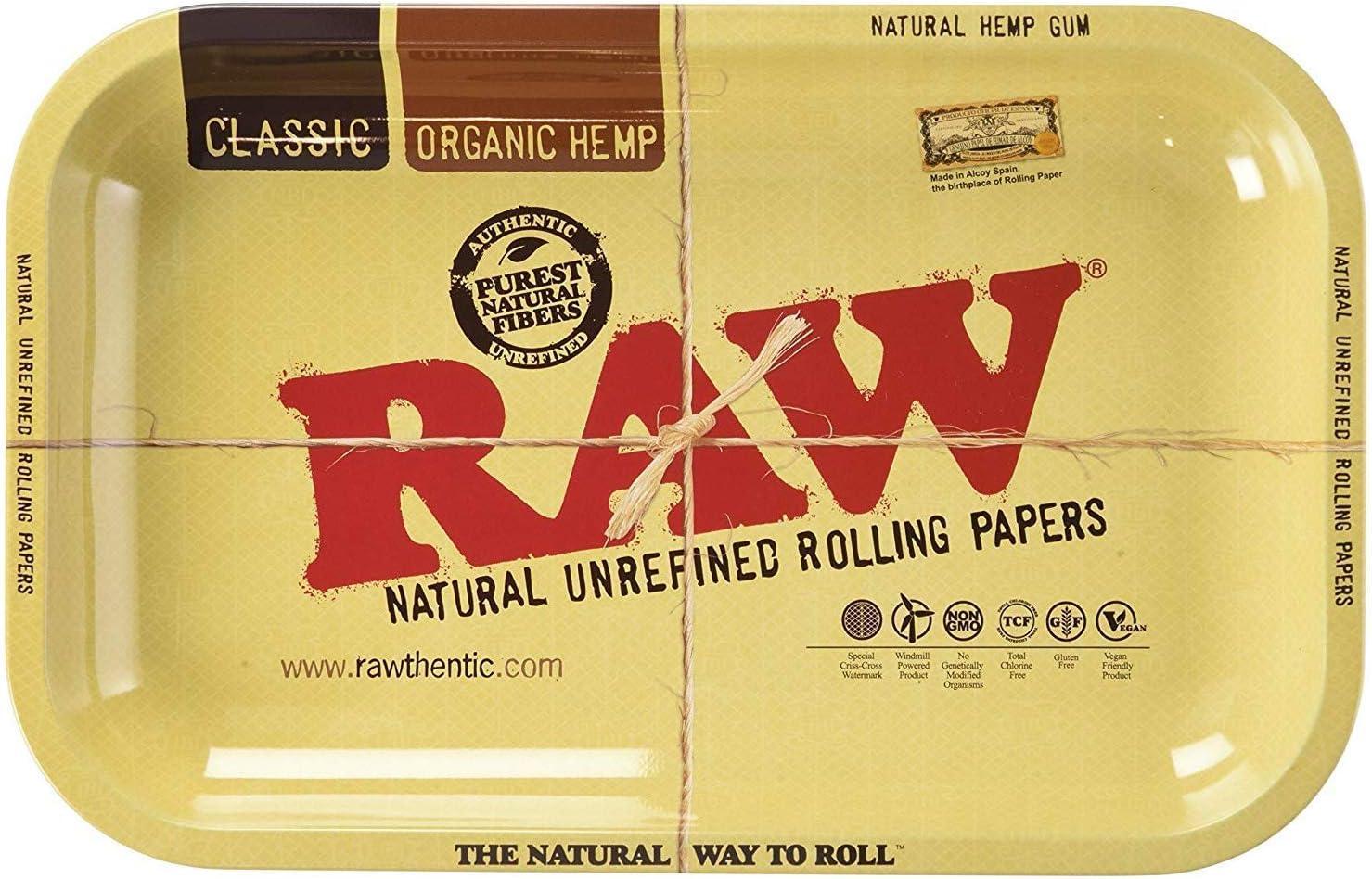 Raw - Bandeja para Liar Pequeña 27,94cm x 17,78cm Individual - Diseño 1