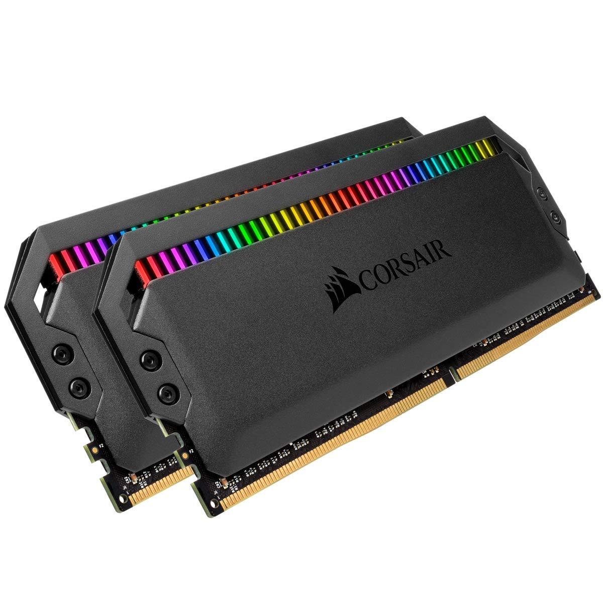 Corsair Dominator Platinum RGB 32GB (2x16GB) DDR4 3200 (PC4-25600) C16 1.35V Desktop Memory by Corsair