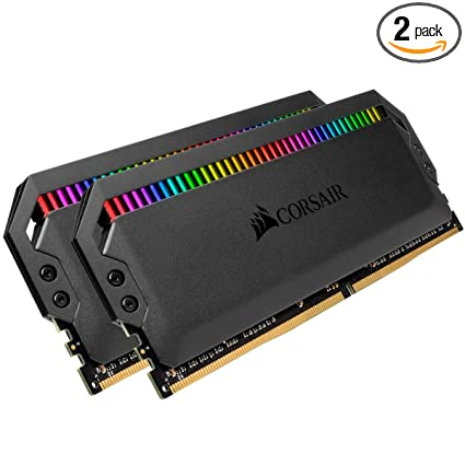 Corsair Dominator Platinum RGB 32GB (2x16GB) DDR4 3200 (PC4-25600) C16  1 35V Desktop Memory