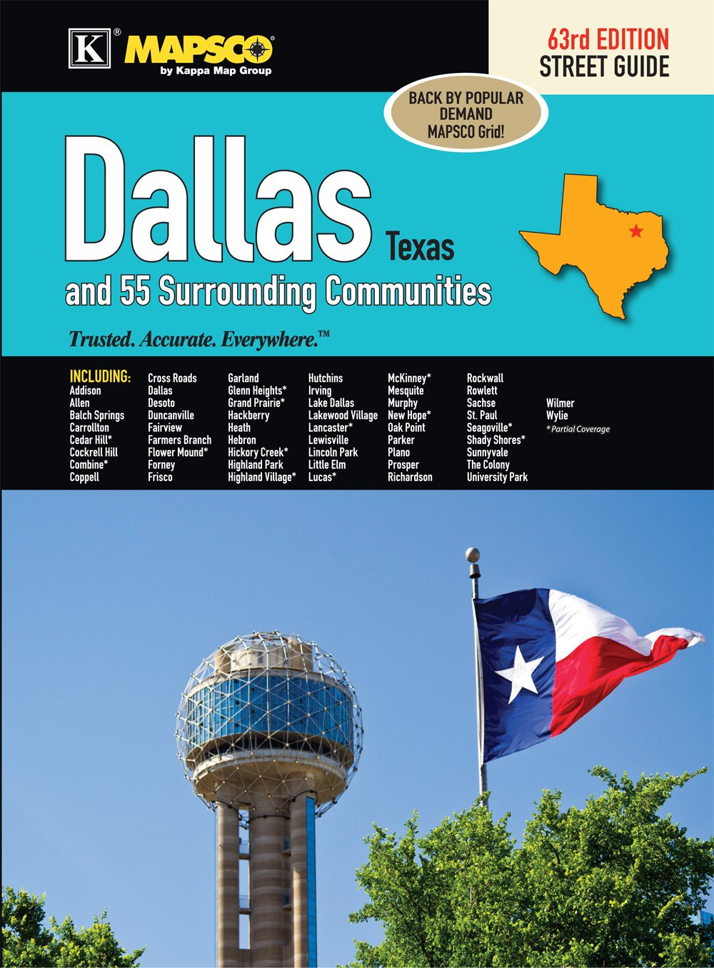 Addison Texas Zip Code Map.Dallas Tx Street Guide Kappa Map Group 9780762588121 Books
