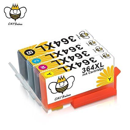 364XL Cartuchos de Tinta CMYBabee de Reemplazo para HP 364 XL Alto ...