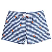 MaaMgic Kids Toddler Little Boys Plaids Swim Trunks Quick Dry with Mesh Lining