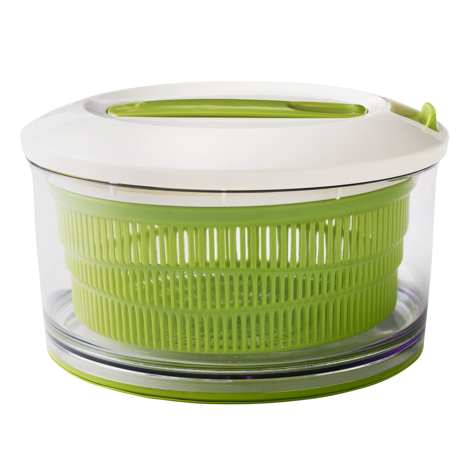 Chef'n Spin Cycle Salad Spinner with No Slip Silicone Base, Large, Arugula