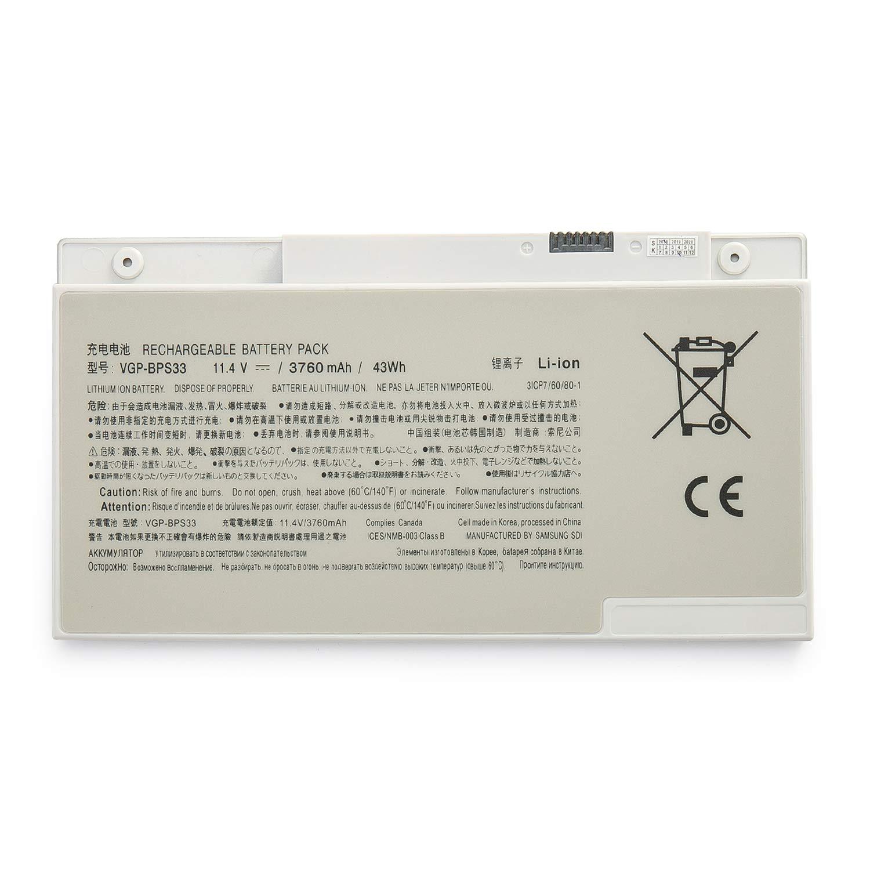 Bateria Vgp-bps33 11.1v 43wh/3760mah Para Sony Vaio Svt-14 Svt-15 T14 T15 Touchscreen Ultrabooks Svt15115cxs Svt15113cds