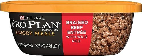 Purina Pro Plan Savory Meals Adult Wet Dog Food – 8 10 oz. Tubs