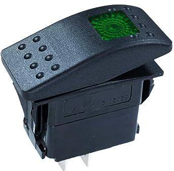 AIR COMPRESSOR GREEN LENS OTRATTW Carling Technologies Contura II Rocker only