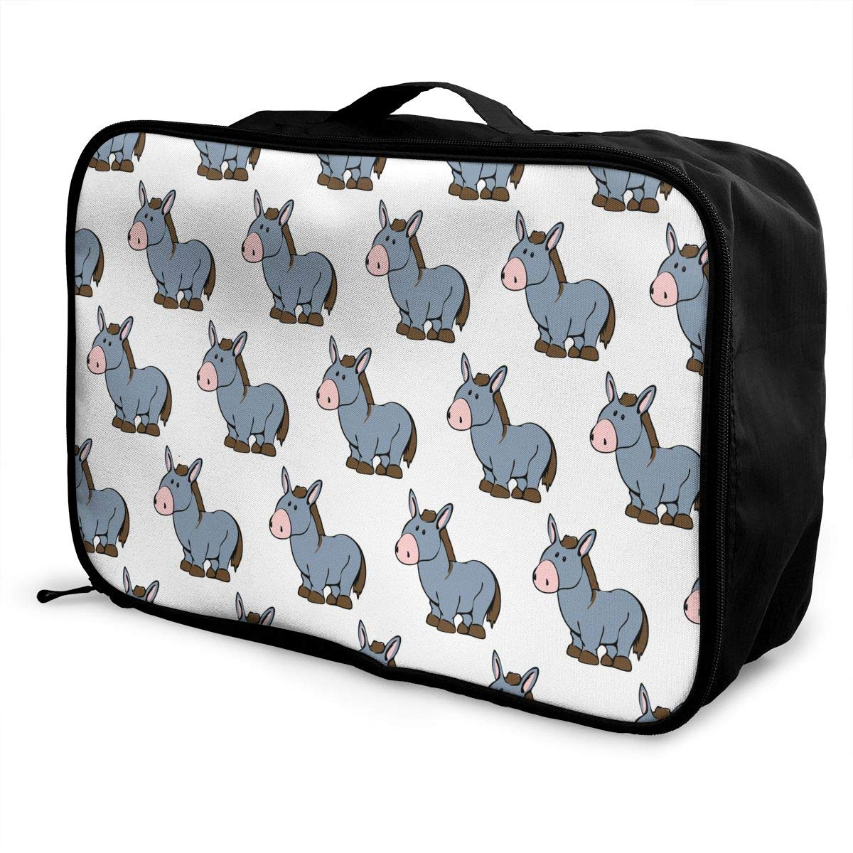 WONDERMAKE Perfect Travel Partner Large Capacity Travel Luggage Storage Bag Sleeve for Suitcase Trolley Handles Travel Duffel Tote Bag Cute Dogs Corgis Breed
