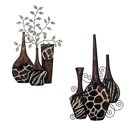 Amazon Home Source Animal Print Vases Wall Decor Home Kitchen