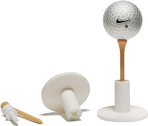 BUSHMANCRAFT Rubber Golf Tee Holder Set for Practice & Driving Range Mats (2 Pack)