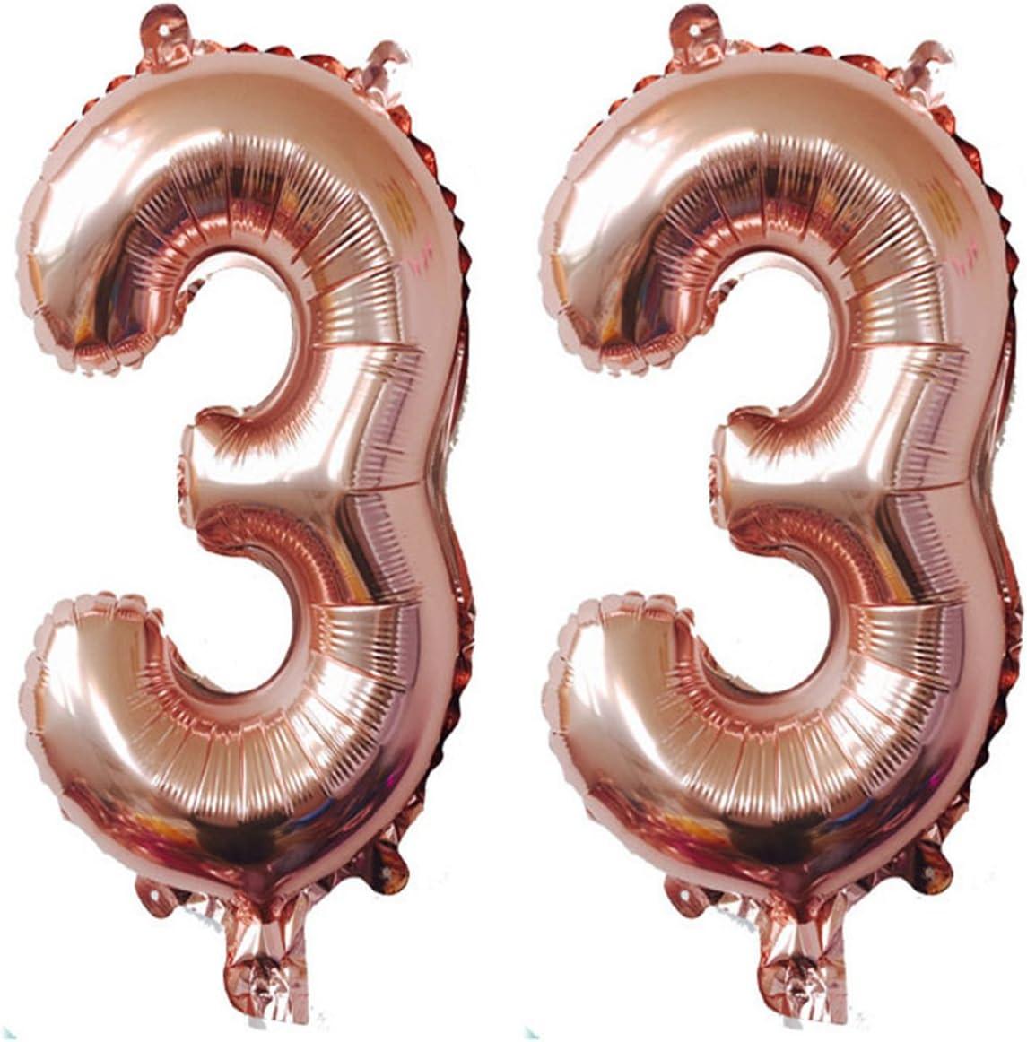 Helium Folienballons Geburtstags Geschenk Nummer Zahlen Gold Jubiläum balloon