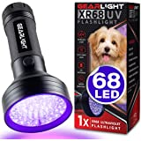 GearLight UV Black Light Flashlight XR68 - Powerful 68 LED Blacklight Flashlights for Pet Urine Detection, Scorpion, Bed…