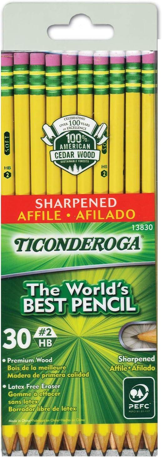 Ticonderoga Presharpened No. 2 Pencils : Wood Lead Pencils : Office Products