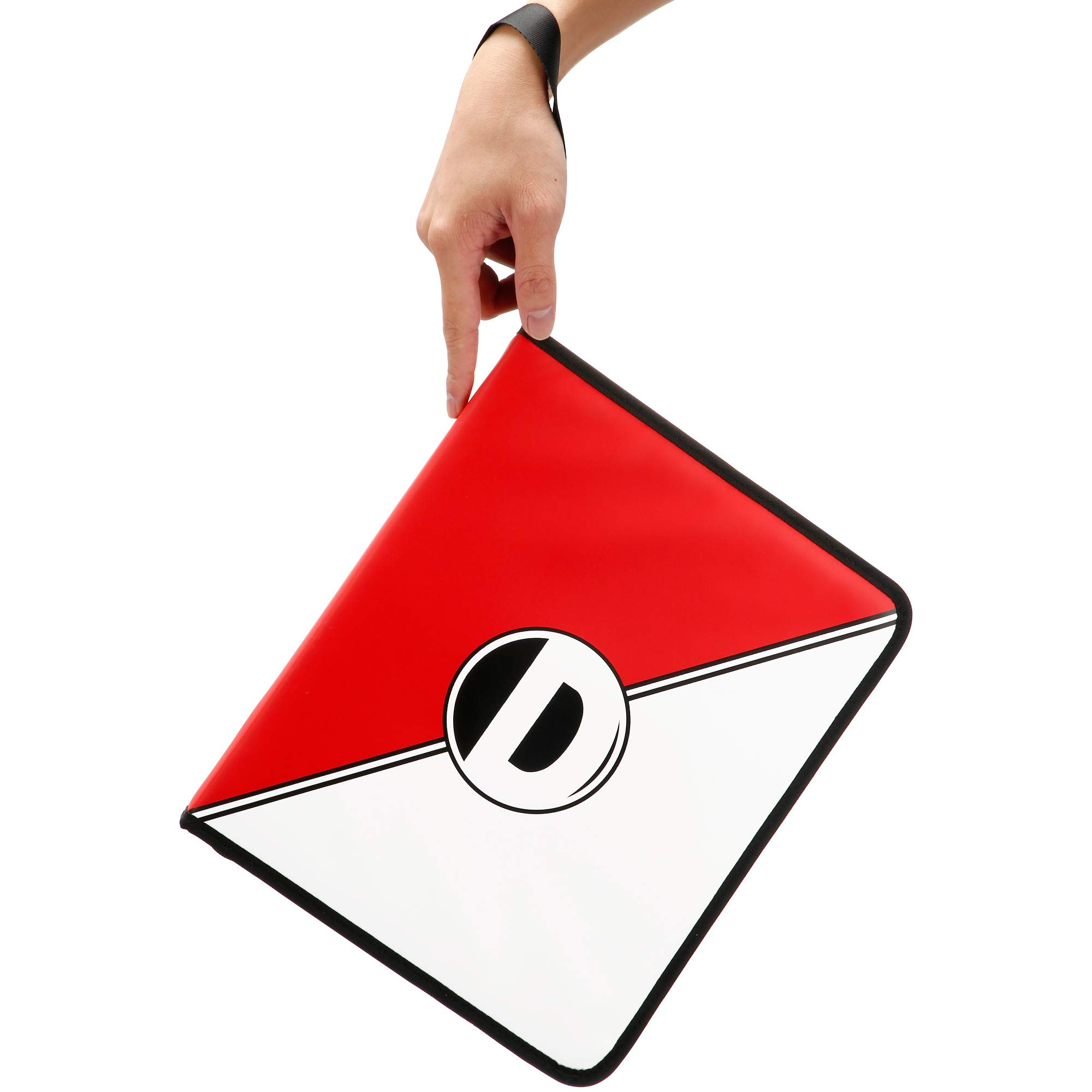 D DACCKIT Carrying Case Compatible with Pokemon Trading Cards, Cards Collectors Album with 30 Premium 9-Pocket Pages, Holds Up to 540 Cards(Red and White Version) by D DACCKIT (Image #7)