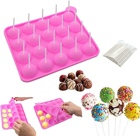 Heart Love Cake Jelly Lolly Mold Chocolate Baking Candy Mould Tray Lollipop Cube