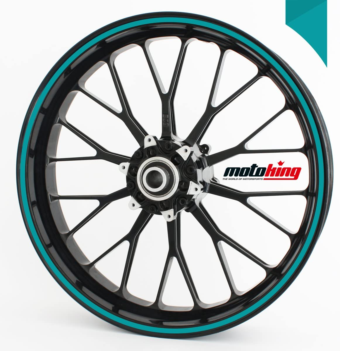 Motoking Felgenrandaufkleber 360/° GL/ÄNZEND//ganzer Kreis//f/ür 10 bis 14 Farbe /& Breite w/ählbar