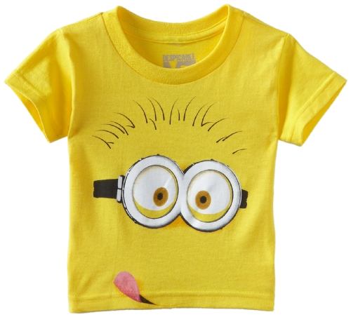 Despicable Me Little Boys' Tongue Shirt, Yellow, Small-2T (Entertainment Headline)