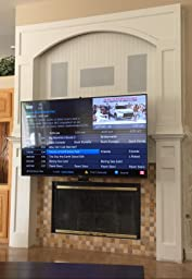 Mantelmount pull down tv wall mount bracket w - Pull down tv mount over fireplace ...