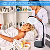 2in1 Tabletop or Clamp Desk Magnifying Glass LED
