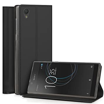 new styles 95844 b1fb8 Sony Xperia L1 Case, IVSO Slim Flip Shell Case Protective Cover for Sony  Xperia L1 Smartphone (Black)