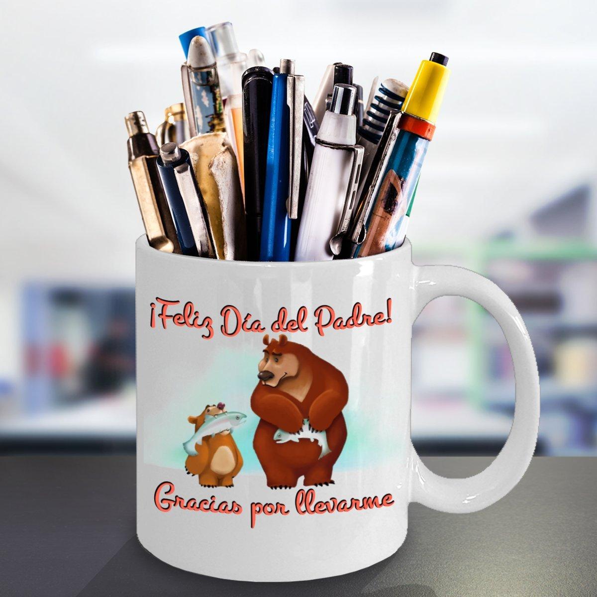 Amazon.com: Feliz Día del Padre Gracias por llevarme Fathers Day Spanish Language Coffee Mug: Kitchen & Dining