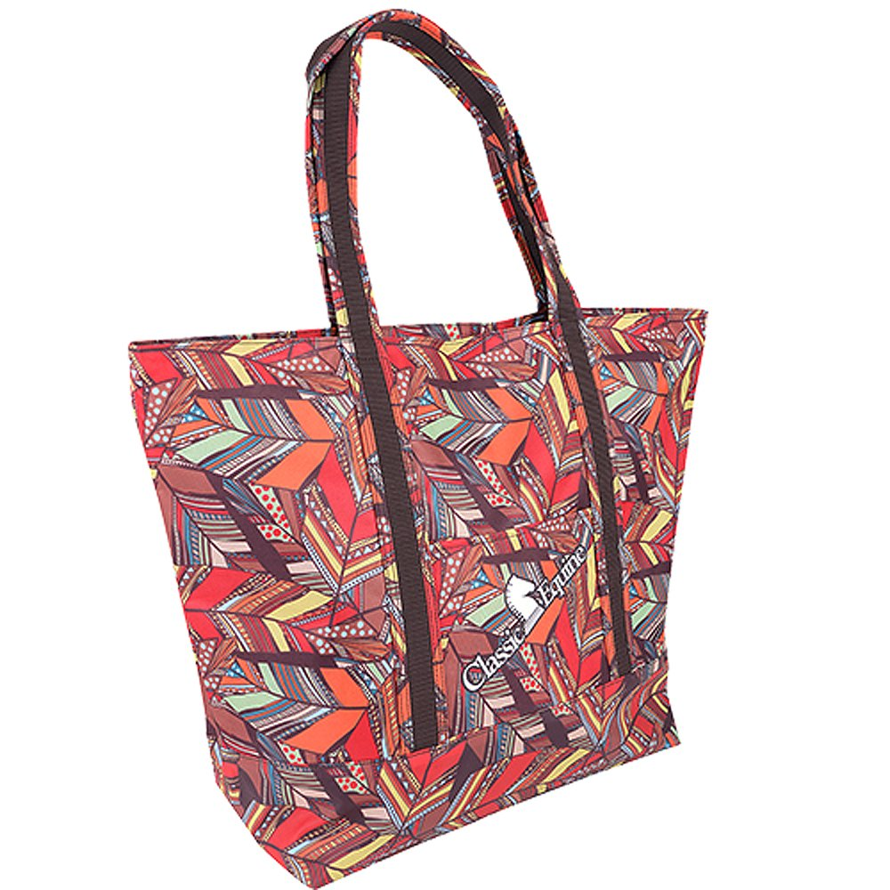 CLASSIC EQUINE HORSE SPORTS GROOMING RODEO TRIP LARGE TOTE BAG FEATHER PRINT   B01LZA88V8