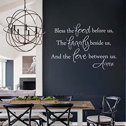 Amazon.com: BATTOO Kitchen Wall decal Bless The Food Wall Decal ...