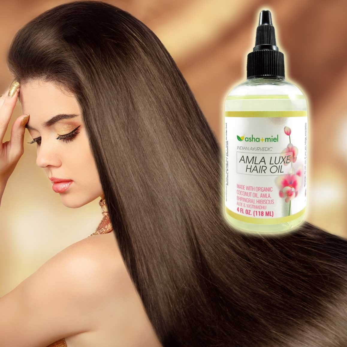 Amla Luxe: Amla, Bhringraj, Hibiscus, Aloe & Licorice Coconut oil, Indian Hair Oil for hair growth