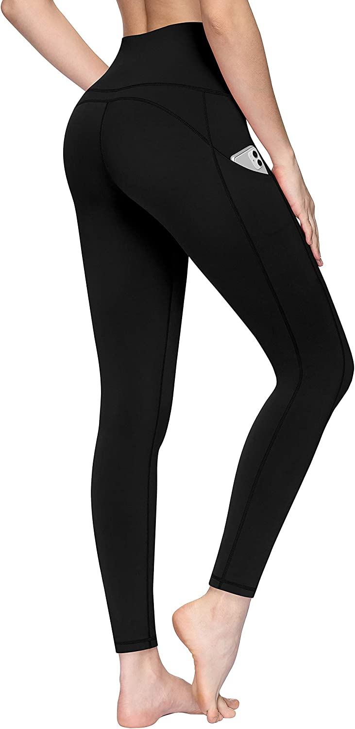 TQD High Waist Yoga Pants for Women Pockets Workout Running Leggings Pants with Tummy Control Non See Through