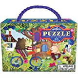 eeBoo Bear on Bicycle Puzzle for Kids, 20 pieces