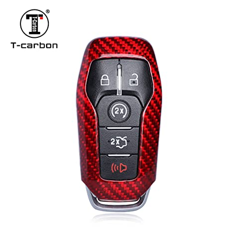 Amazon.com: Funda de fibra de carbono para llave de Ford ...